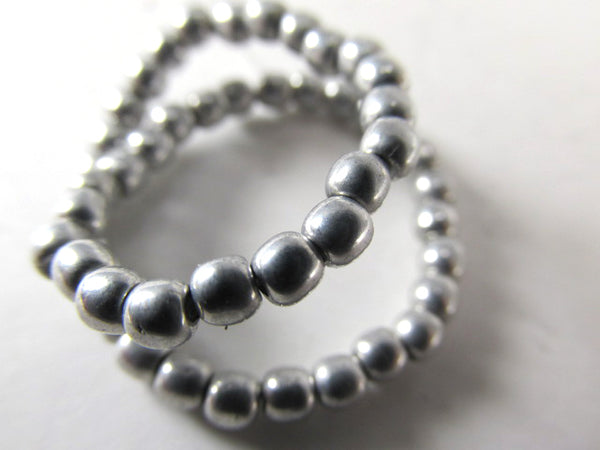 Antique Silver Gray Czech Glass 3mm Round Druk Jewelry Beads (50) - Odyssey Cache