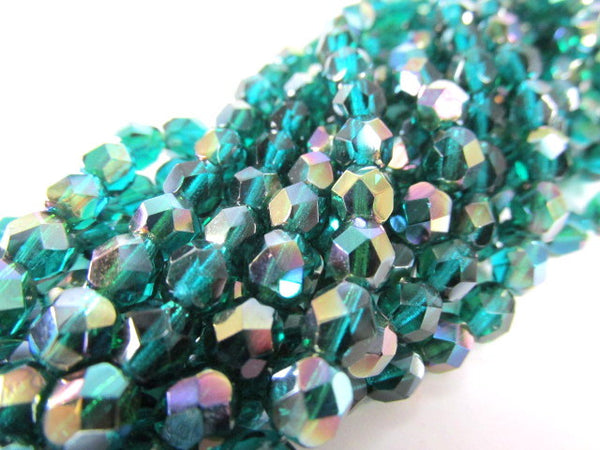 Viridean Celsian 3mm Czech Glass Fire Polished Jewelry Beads (50) - Odyssey Cache - 5