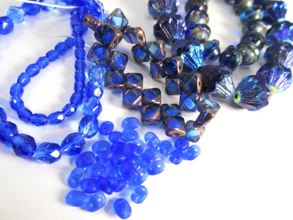Sapphire Copper Czech glass 2-Hole CzechMate 6mm Silky Beads (25) - Odyssey Cache - 7
