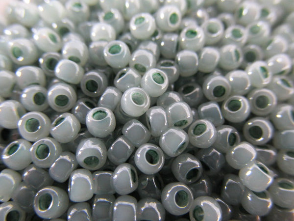 Aqua Ceylon Dark Seafoam Czech Glass 8/0 Toho Czech Glass Seed Beads (10 grams) - Odyssey Cache