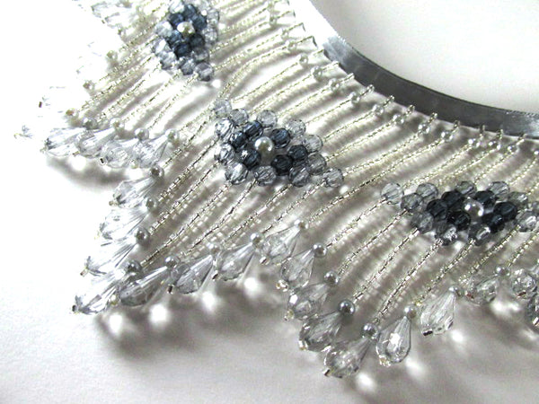 Shades of Gray 4.25 Inch Long Beaded Fringe Costume or Decorator Trim-Beaded Fringe-Yard-Odyssey Cache