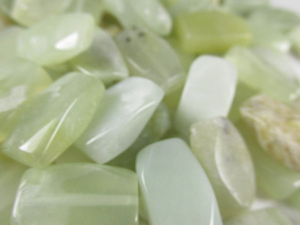 Light Green Jade 12x18mm Faceted Corner Rectangle Semiprecious Stone Beads (15) - Odyssey Cache