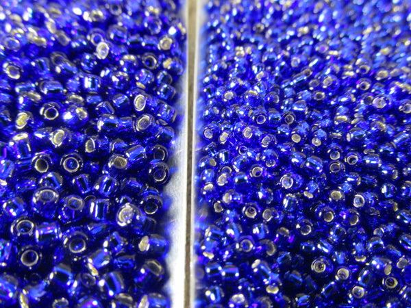 Blue Cobalt Silver Lined Size 8.0 Toho Czech Glass Seed Beads (10 grams) - Odyssey Cache
