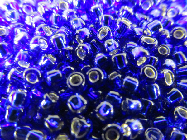 Blue Cobalt Silver Lined Size 8.0 Toho Glass Seed Beads (10 grams)-Jewelry Beads-Odyssey Cache
