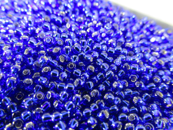 Blue Cobalt Silver Lined Size 11.0 Toho Czech Glass Seed Beads (10 grams) - Odyssey Cache