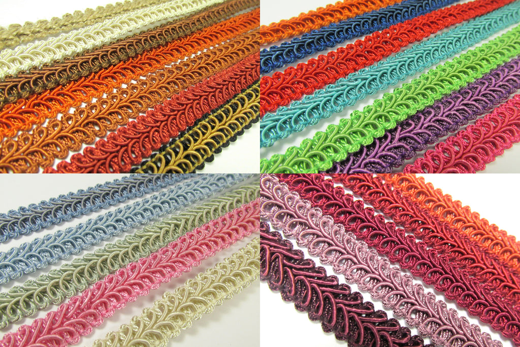 1/2 Inch Heavy Upholstery Quality Raised Gimp Trim in 35 colors - Odyssey Cache