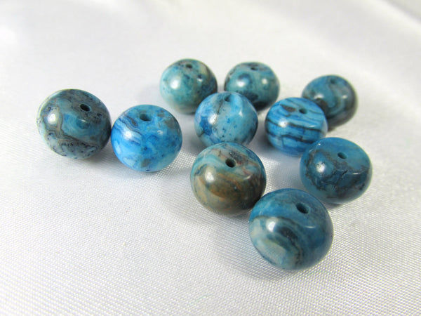 Crazy Blue Lace Agate Semiprecious Stone 10mm x 8mm Smooth Rondelles-Jewelry Beads-Default Title-Odyssey Cache