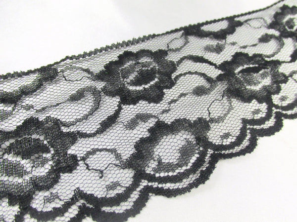 Vintage 3 inch wide Black Lace Trim - Sale - Odyssey Cache