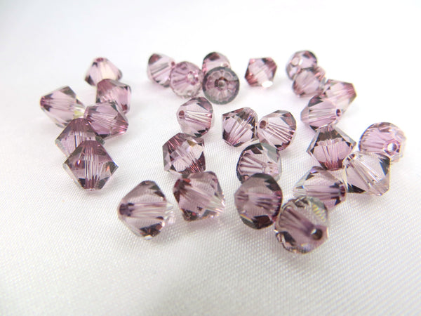 Antique Pink Swarovski Crystal 6mm Bicones (20) - Odyssey Cache
