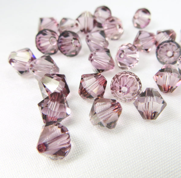 Antique Pink Swarovski Crystal 6mm Bicones (20)-Jewelry Beads-Default Title-Odyssey Cache