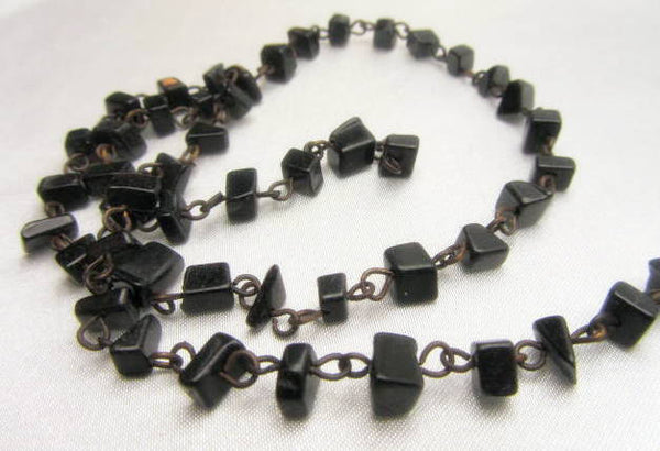 Blackstone Nugget and Antique Brass 18 Inch Chain-Jewelry Beads-Odyssey Cache