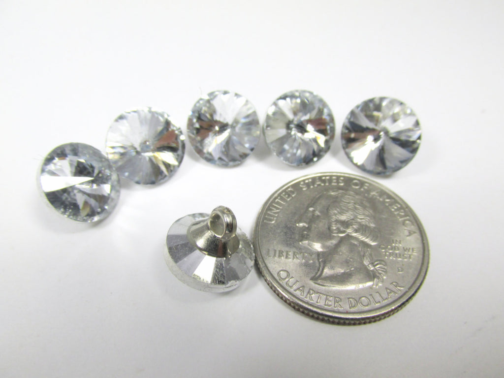 Clear Crystal Buttons in 12mm, 14mm, 16mm, 18mm, 20mm and 25mm-Buttons-12mm (6 buttons)-Odyssey Cache