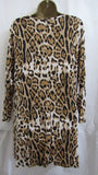 NEW Ladies Lagenlook Animal Print Swing Dress Sized Item 16-18, 20-22 and 24-26