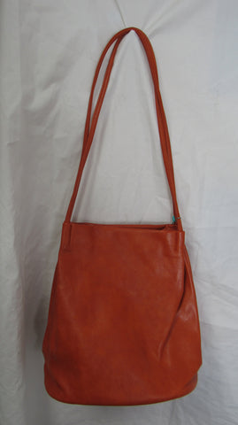 SPECIAL OFFER NEW Ladies Orange Trendy Shopping Shoulder Bag Faux Leather