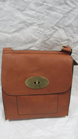 SPECIAL OFFER NEW Ladies Brown Faux Leather Handbag Cross Shoulder Messenger Bag
