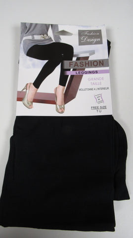 BUY ONE PAIR GET ANOTHER FOR HALF PRICE NEW Ladies BLACK Thermal Lined Leggings ONE SIZE FITS 10 12 14 16 SMALLER SIZE