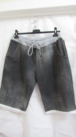 NEW Ladies Grey Shorts One Size Fits Sizes 18 20 22 PLUS SIZE