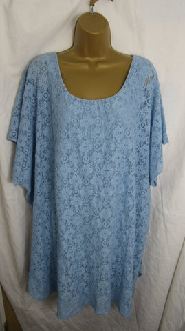 Sale Sale Sale NEW Ladies Denim Blue Lacy Tunic Top One Size Fits 18 20 22 24 Plus Non Returnable