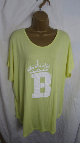 Sale Sale Sale NEW Ladies Yellow Lemon Queen B T Shirt Top One Size Fits 12 14 16 18 20 Non Returnable
