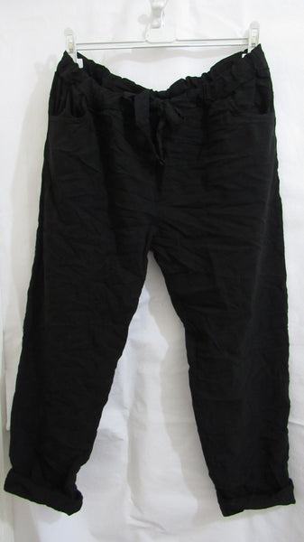 NEW Ladies Black Stretchy Magic Trousers One Size Fits 18 20 22 PLUS SIZE