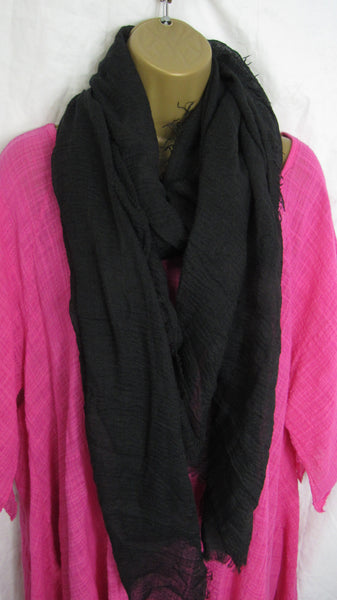 NEW Ladies Fashion Black Muslin Edge Design Scarf Wrap Shawl Gift