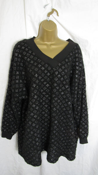 NEW Ladies V Neck Sparkle Jumper One Size Fits 16 18 20 22