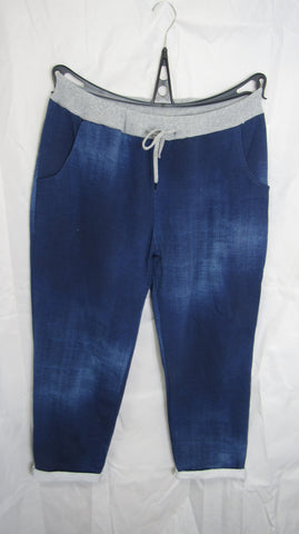 2 for £25 NEW Ladies Denim Blue Joggers Leggings One Size Fits 16 18 20 Plus Size