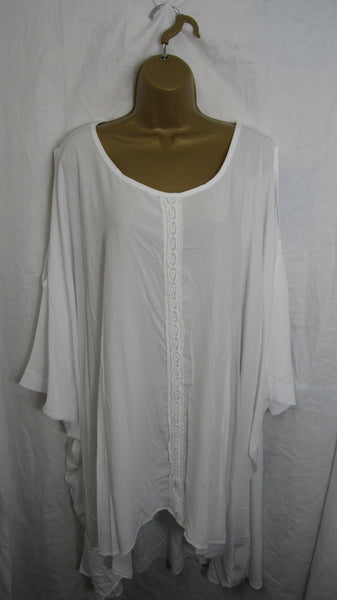 Sale Sale Sale NEW Ladies Womens White Cold Shoulder Tunic Top One Size Fits 20 22 24 26 Plus Non Returnable