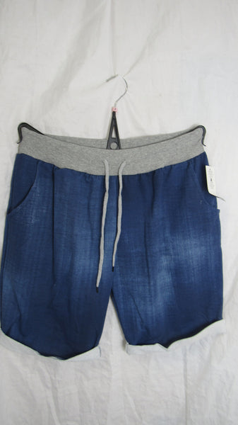 NEW Ladies Denim Blue Jogger Shorts One Size Fits 20 22 Plus Plus Size 3