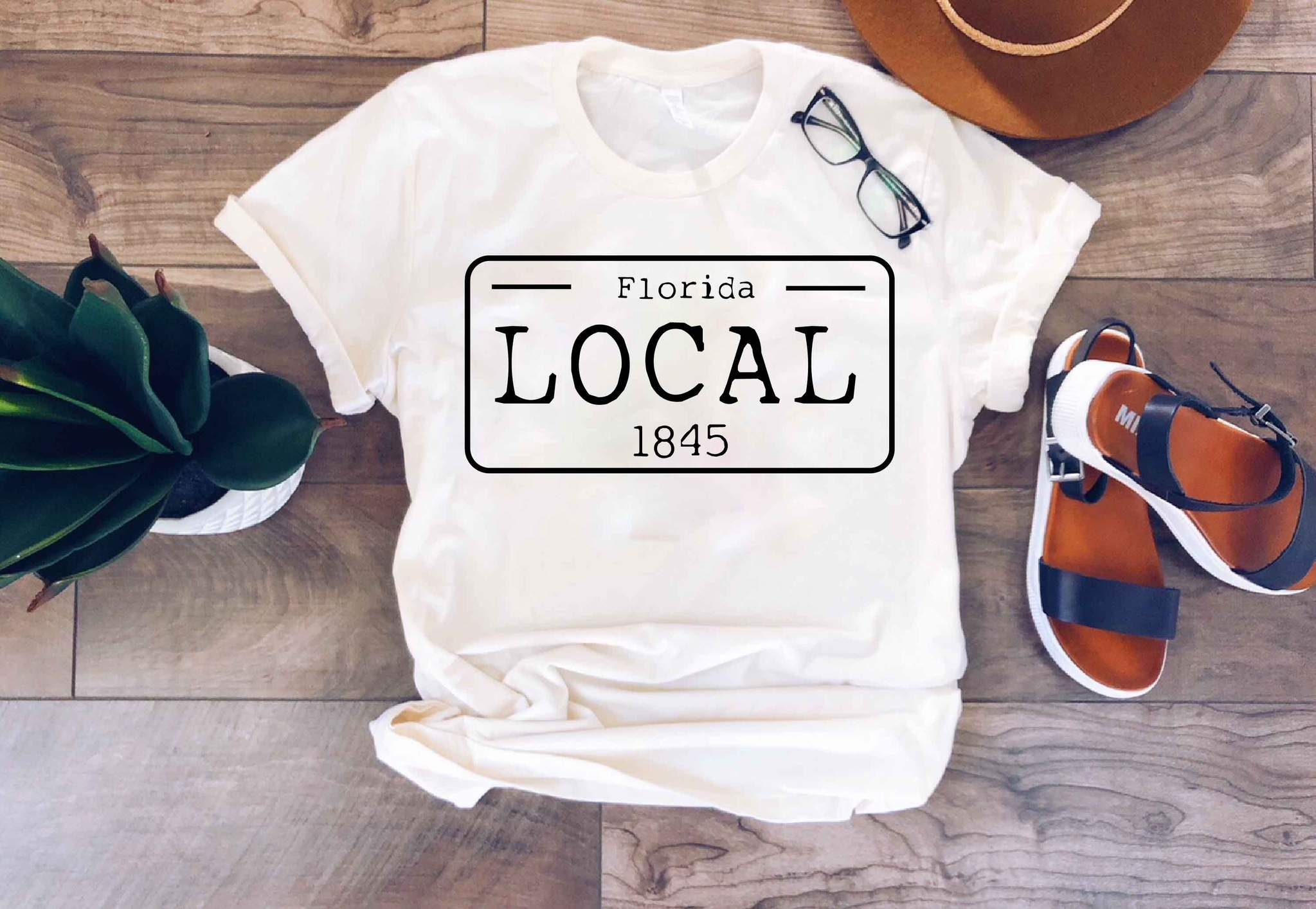 Local License Plate State Tees