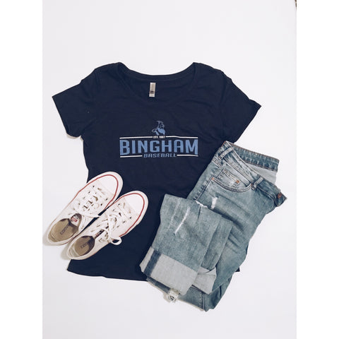 Women's Bingham Baseball scoop neck tee