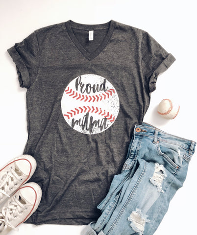 Proud mama baseball tee - Jane Avenue
