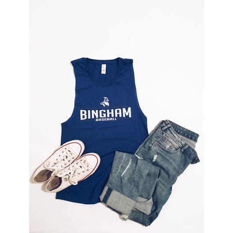Women's Bingham Baseball muscle tee