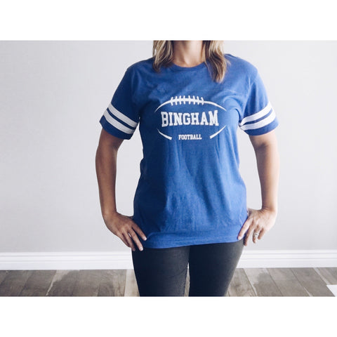 Bingham football varsity tee - Jane Avenue