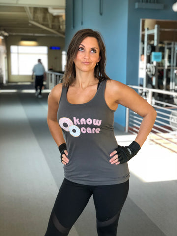 Donut know donut care women's tank