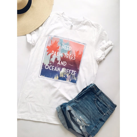 I need Palm trees and an Ocean Breeze tee - Jane Avenue