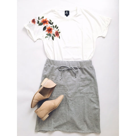 Summer skirt in grey