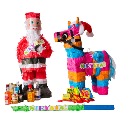Homebound Holiday Family Fun NIPYATA! Care Package (Includes 2 Pre-loaded Piñatas)