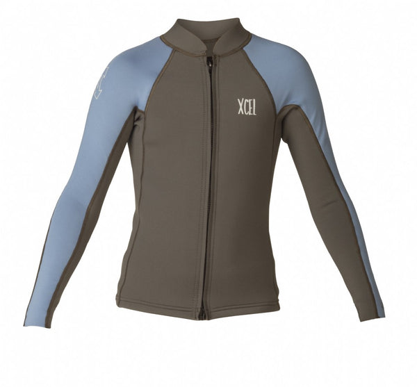 Youth Axis 2/1mm L/S Front Zip Wetsuit Top