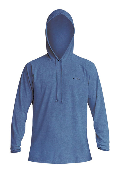 Men's Heathered Ventx Hooded Pullover L/S