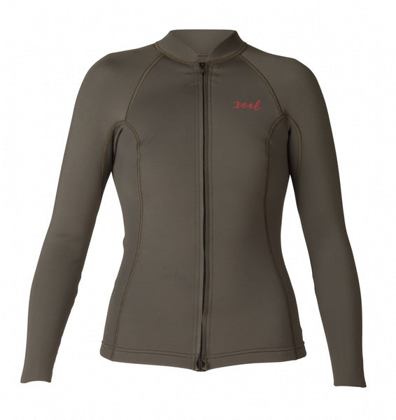 Women's Axis 2/1mm L/S Front Zip Wetsuit Top