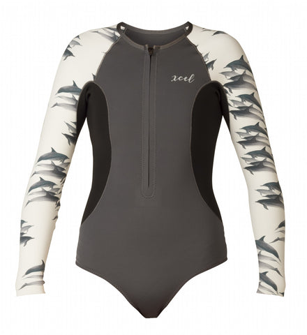 Women's Water Inspired Axis L/S Front Zip Springsuit 1.5mm