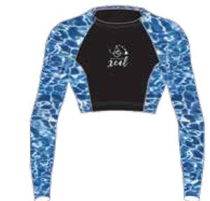 Women's Water Inspired UV 8oz Crop Top L/S