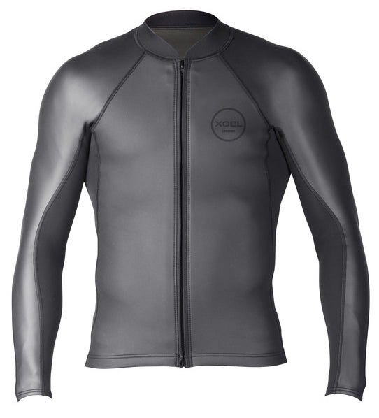 Arriving May 15th 2021 Men's Axis Sharkskin Front Zip Wetsuit Top 2/1