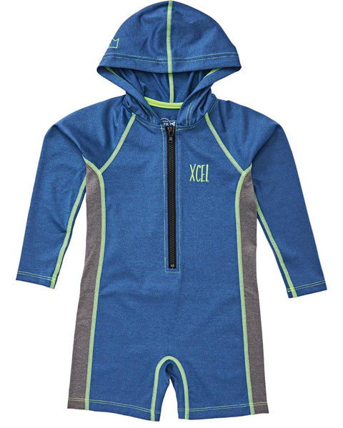 Toddler's Premium Stretch Unisex LS Front Zip Hooded Springsuit