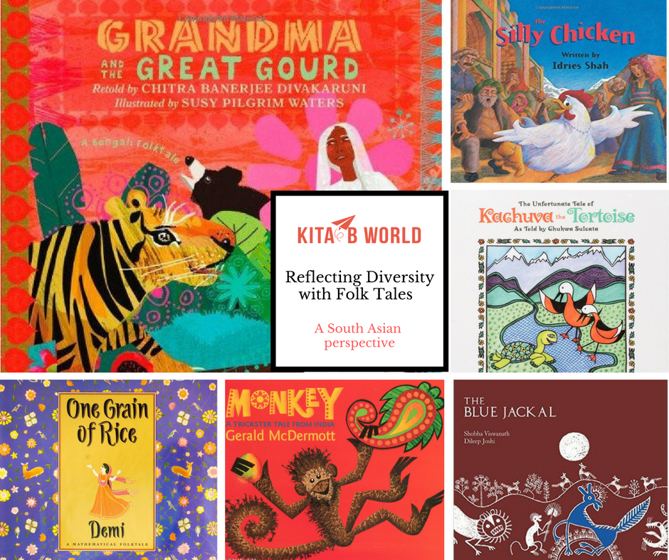 Reflecting Diversity with Folktales: A South Asian Perspective