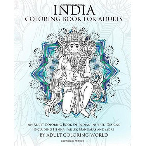 India Coloring Book For Adults - KitaabWorld