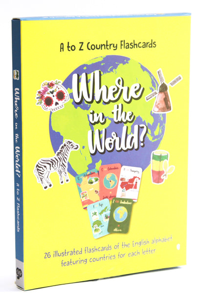 Where in the World? A-Z Flashcards (English)