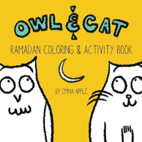 Owl & Cat: Ramadan Coloring and Activity Book