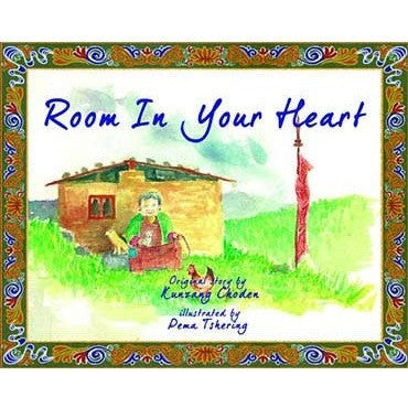 book cover of Room in Your Heart showing a grandmother outside her country house